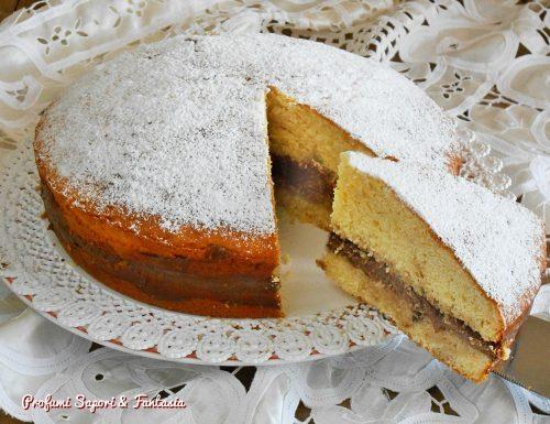 Torta soffice al mascarpone con crema al cioccolato