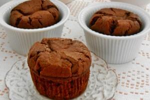 Muffin alla panna cacao e cioccolato