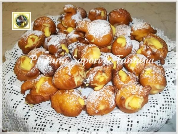 Castagnole con crema pasticcera   Blog Profumi Sapori & Fantasia