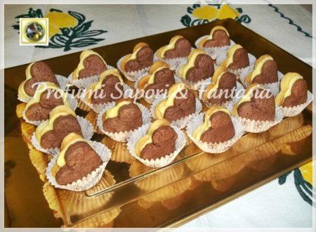 Biscotti panna cacao con crema pasticcera