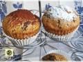 Muffin di ricotta con cioccolato fondente