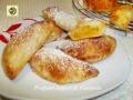 Ravioli dolci di pasta sfoglia con marmellata di mandarini