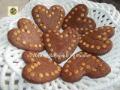 Cuori di frolla con gocce di cioccolato bianco