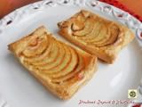 Sfogliatine di mele e marmellata di pesche