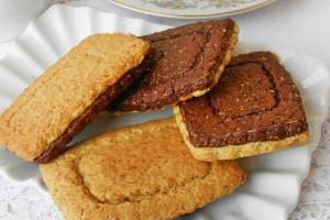 Biscotti integrali ai due colori