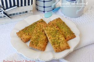 Biscotti al kamut senza burro con pistacchi