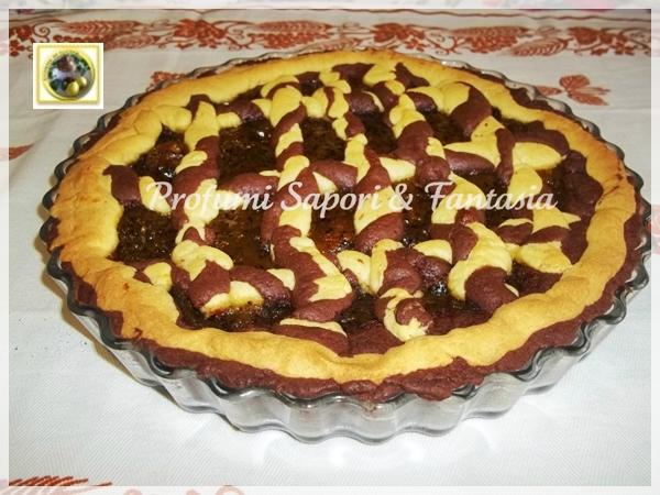 Crostata di frolla panna e cacao con marmellata di kiwi  Blog Profumi Sapori & Fantasia