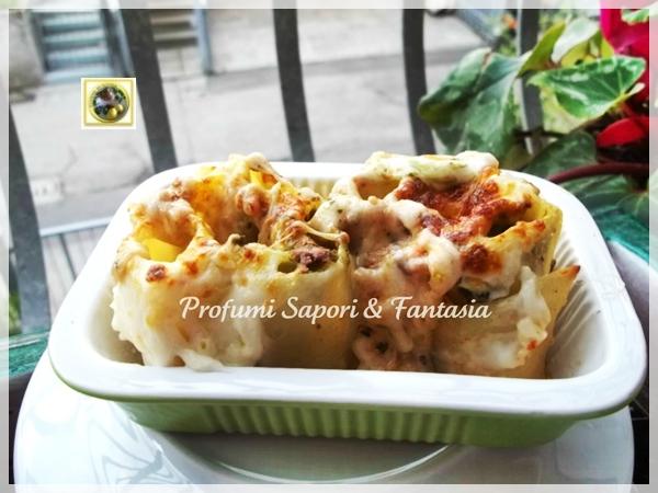 Cannelloni con mozzarella e salsa al pesto  Blog Profumi Sapori & Fantasia