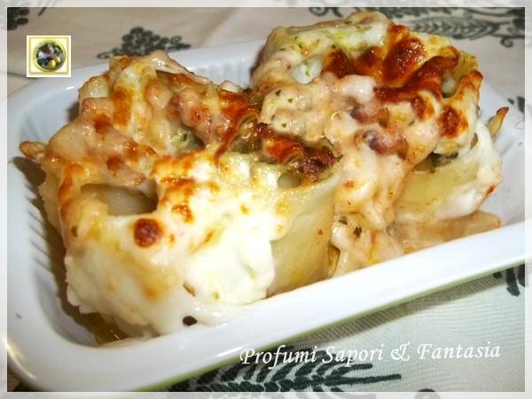 Cannelloni alla mozzarella con salsa al pesto  Blog Profumi Sapori & Fantasia