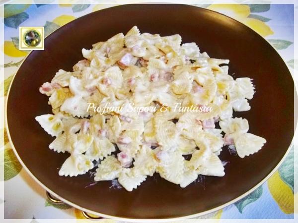 Ricetta pasta panna prosciutto e mais