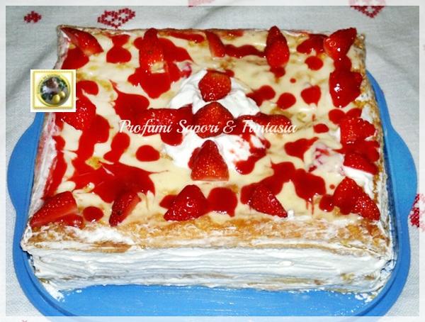 Millefoglie di fragole con crema Chantilly Blog Profumi Sapori & Fantasia