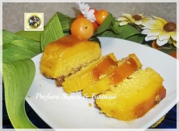 Budino di ricotta con mandorle e caramello ricetta Blog Profumi Sapori & Fantasia
