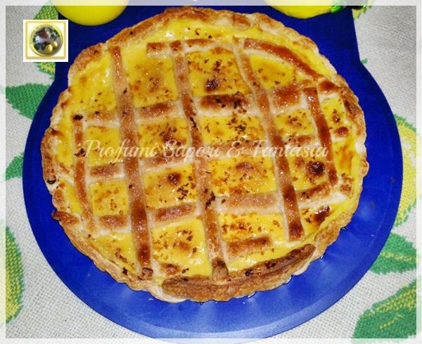 Crostata di pasta sfoglia con crema pasticcera al limone Blog Profumi Sapori & Fantasia