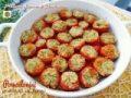 Pomodorini gratinati al forno