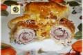 Involtini di lonza ripieni al prosciutto e formaggio in pasta sfoglia