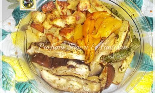 Contorno di verdure grigliate al forno, ricetta leggera