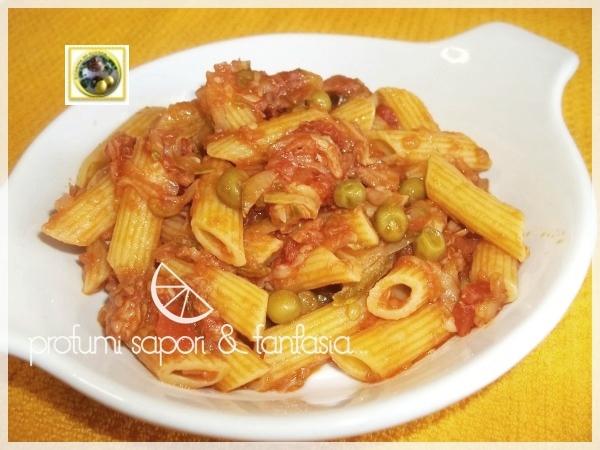 Pasta con zucchine piselli e tonno Blog Profumi Sapori & Fantasia