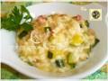 Risotto alle zucchine e taleggio con pancetta