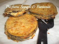 Cotolette di melanzane ripiene, con prosciutto e formaggio Blog Profumi Sapori & Fantasia
