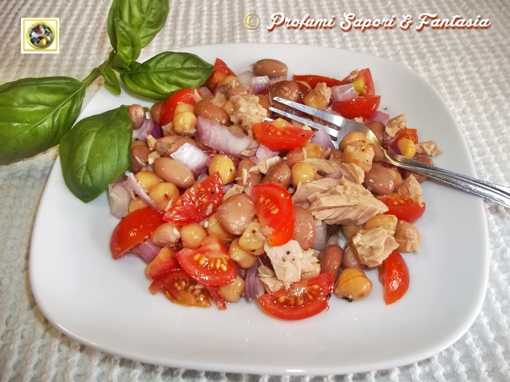 Insalata di tonno, legumi cipolla e pomodorini Blog Profumi Sapori & Fantasia