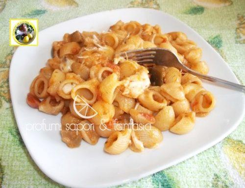 Pasta alla mozzarella di bufala pecorino e verdure