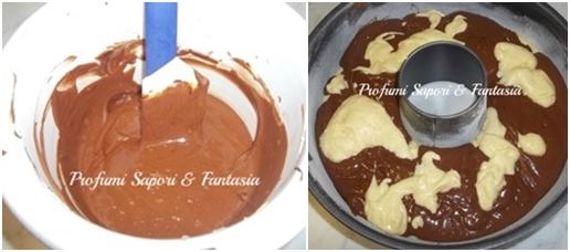 Ciambella bicolore con Nutella