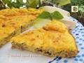Frittata al forno con ricotta prosciutto e basilico