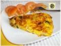 Frittata di cipolle zucchine al profumo di basilico