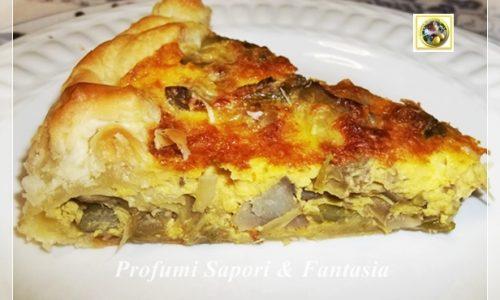 Torta salata con carciofi e asparagi ricetta