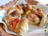 Corona di pan brioche dolce doppio ripieno