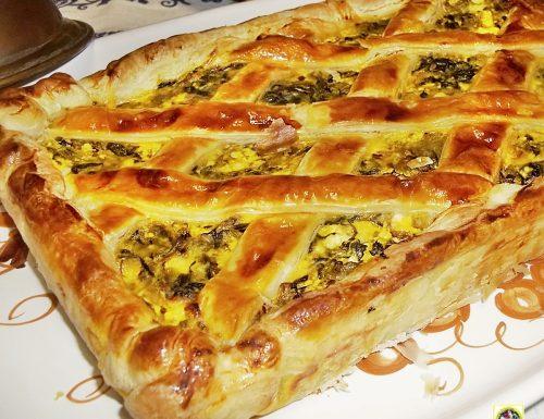 Torta salata verdure ricotta e prosciutto