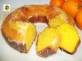 Ciambella di ricotta e arancia, glassata