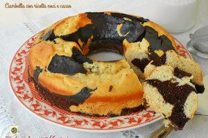 Ciambella con ricotta noci e cacao