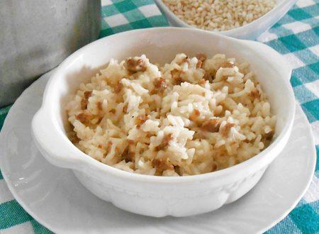 Risotto alla parmigiana con salsiccia ricetta
