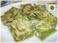 Ravioli ricotta e spinaci in crema di funghi