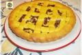 Crostata con crema e cioccolato fondente
