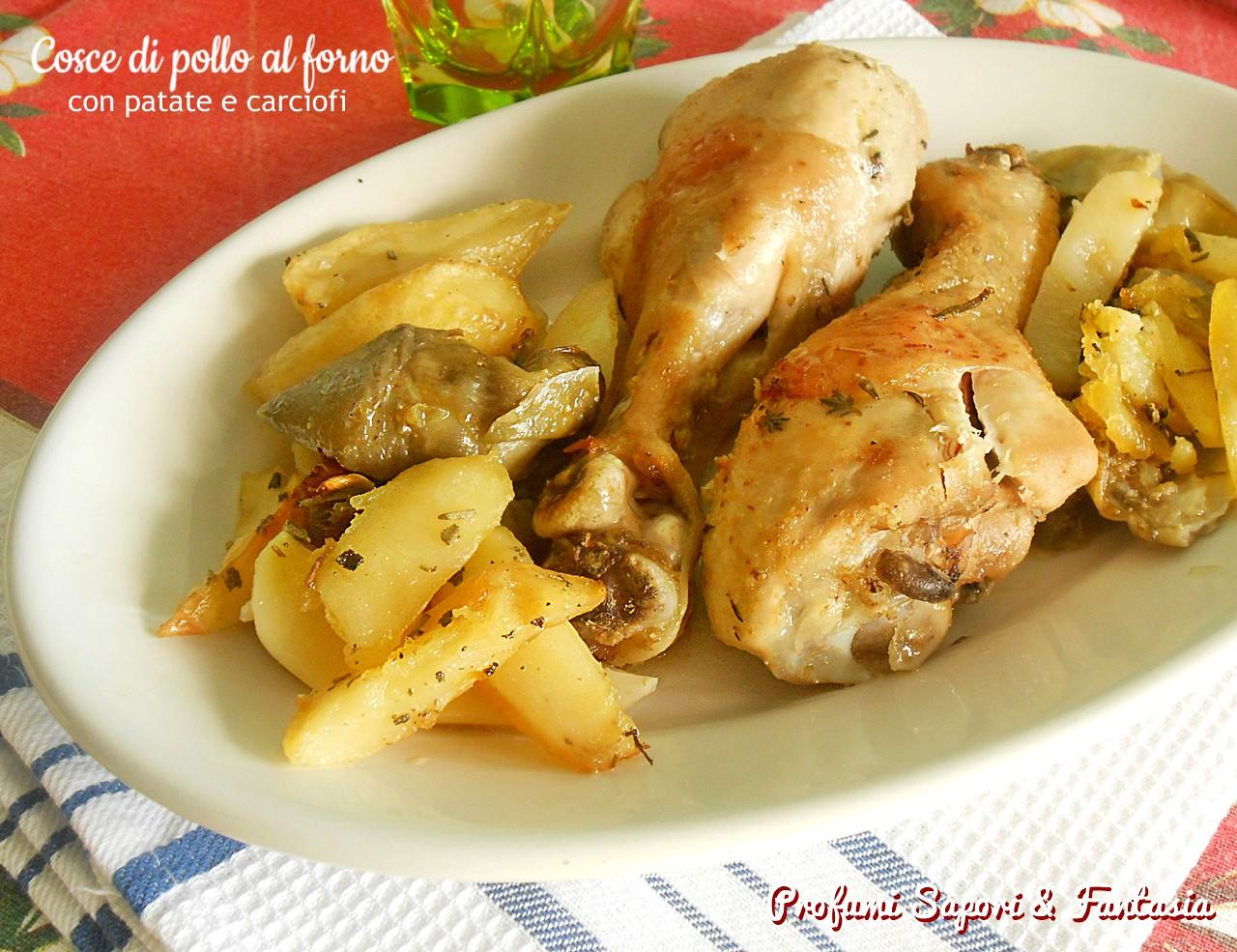 Cosce Di Pollo Al Forno Con Patate E Carciofi Ricetta Facile