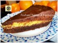 Torta al cioccolato fondente con crema di arancia