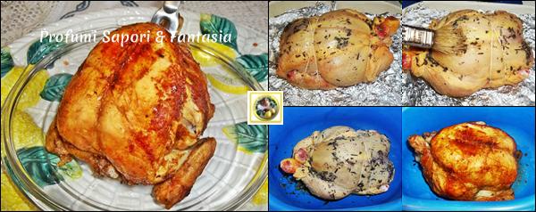 pollo intero arrosto al forno blog profumi sapori fantasia