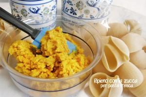 Ripieno con la zucca per pasta fresca