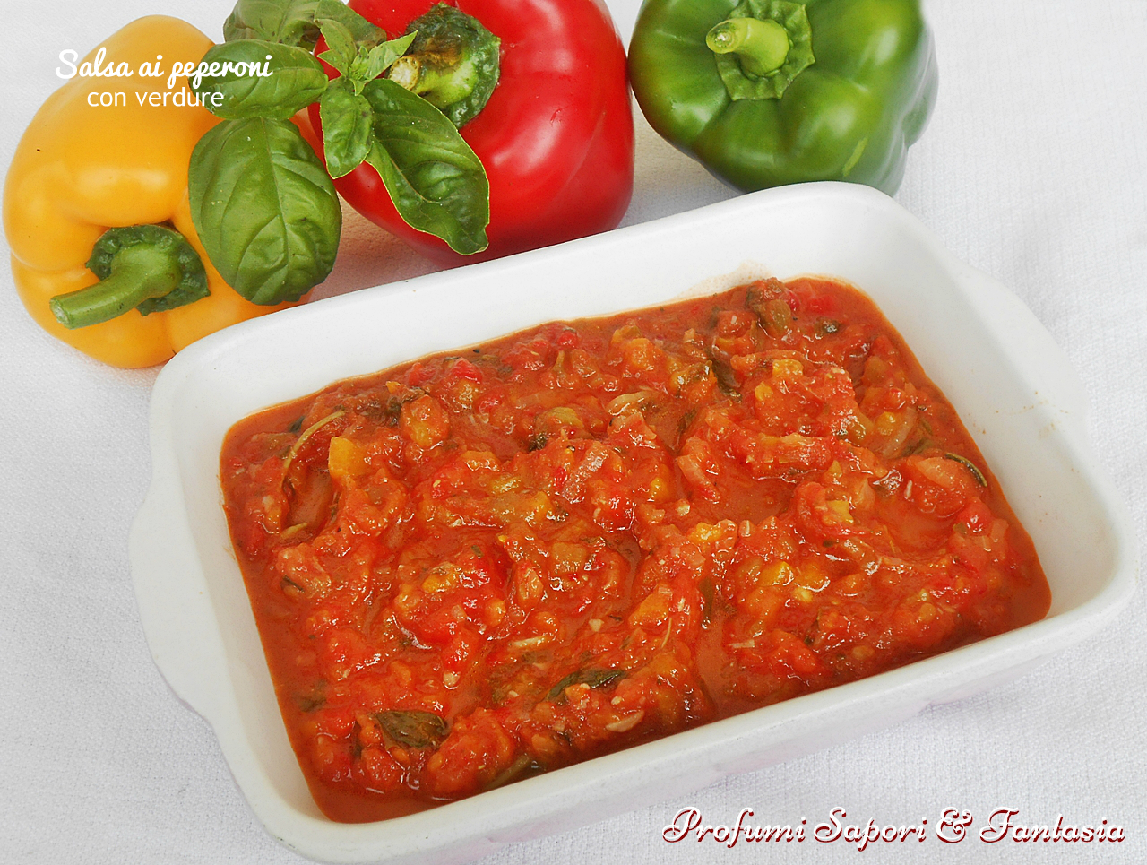 Salsa ai peperoni con verdure doppio procedimento anche bimby for Una salsa da cucina cinese