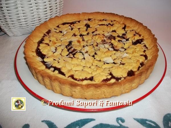 Crostata sbriciolata alla marmellata di ciliegie  Blog Profumi Sapori & Fantasia