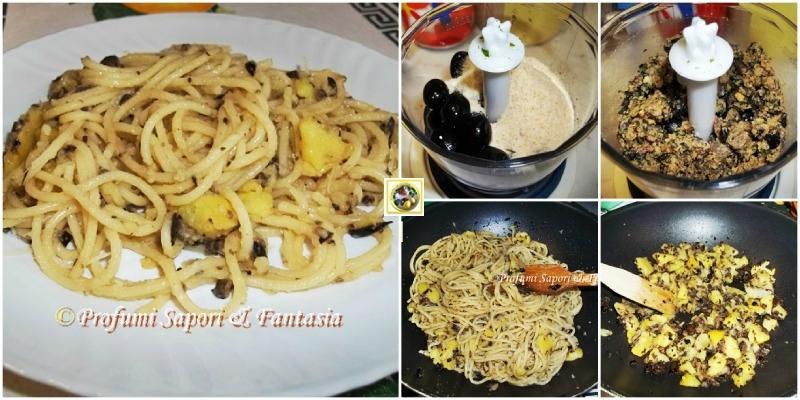 Pasta con acciughe olive e patate  Blog Profumi Sapori & Fantasia