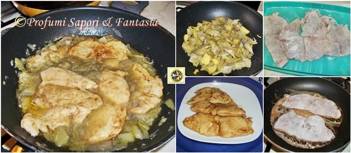 Scaloppine di pollo con carciofi e patate Blog Profumi Sapori & Fantasia