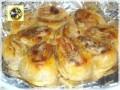 Torta di rose, in pasta sfoglia con prosciutto e scamorza