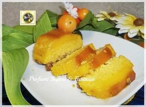 Budino di ricotta con mandorle e caramello ricetta Menu di Pasqua tante ricette facili Blog Profumi Sapori & Fantasia