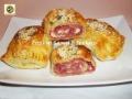 Pasta sfoglia al salame con scamorza affumicata