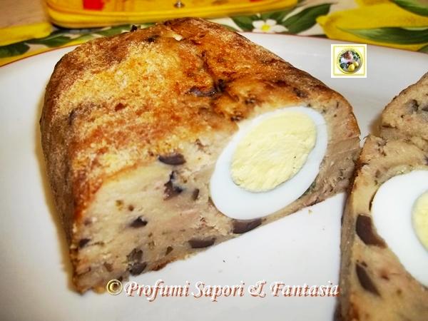 Polpettone tonno e patate al forno con uova sode  Blog Profumi Sapori & Fantasia