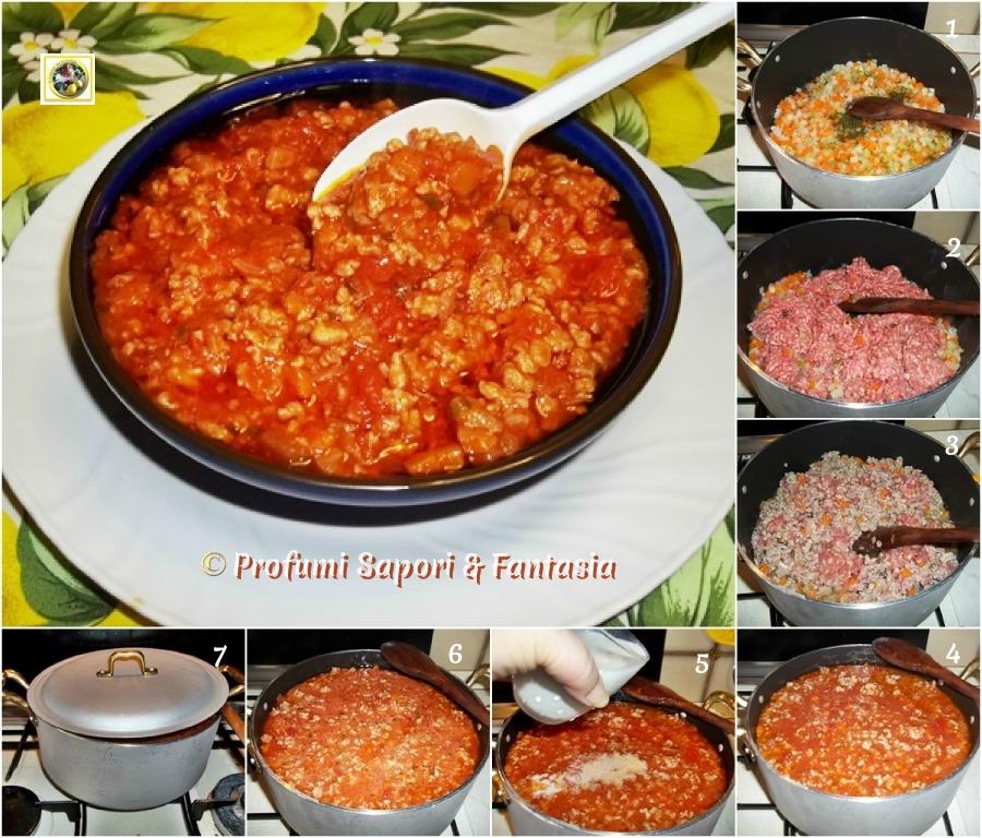 Ragu' alla bolognese ricettapasso passo Blog Profumi Sapori & Fantasia