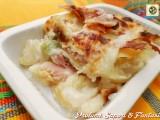 Parmigiana di patate con zucchine e prosciutto